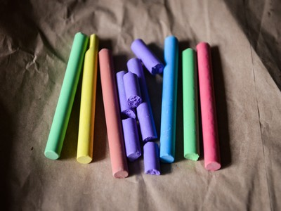 Photo of chalks for Nottingham copywriting blog post